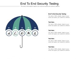 End To End Security Testing Ppt Powerpoint Presentation Model Show Cpb