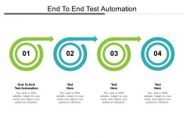 End To End Test Automation Ppt Powerpoint Presentation Pictures Template Cpb