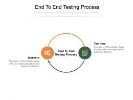 End To End Testing Process Ppt Powerpoint Presentation Template Cpb