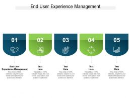 End User Experience Management Ppt Powerpoint Presentation File Outline Cpb