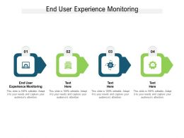 End User Experience Monitoring Ppt Powerpoint Presentation Infographics Ideas Cpb