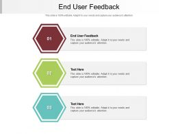 End User Feedback Ppt Powerpoint Presentation Inspiration Maker Cpb