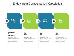 Endowment Compensation Calculation Ppt Infographic Template Background Image Cpb