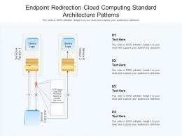 Endpoint Redirection Cloud Computing Standard Architecture Patterns Ppt Powerpoint Slide