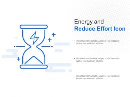 Energy And Reduce Effort Icon