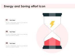Energy And Saving Effort Icon