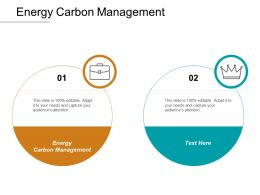 Energy Carbon Management Ppt Powerpoint Presentation Model Example Cpb