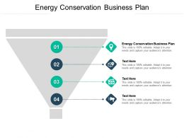 Energy Conservation Business Plan Ppt Powerpoint Presentation Pictures Graphics Cpb