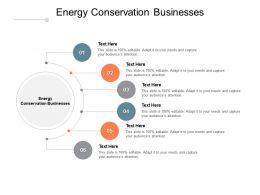 Energy Conservation Businesses Ppt Powerpoint Presentation Professional Cpb