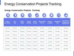 Energy Conservation Projects Tracking Big Data Analysis Ppt Powerpoint Slides