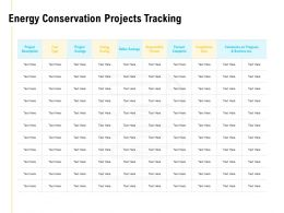 Energy Conservation Projects Tracking Business Ppt Powerpoint Presentation Slides Summary