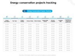 Energy Conservation Projects Tracking Conservation Ppt Powerpoint Pictures Show