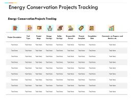 Energy Conservation Projects Tracking Growth Management Ppt Powerpoint Presentation Ideas Backgrounds