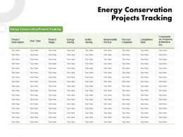 Energy Conservation Projects Tracking Ppt Powerpoint Clipart Images