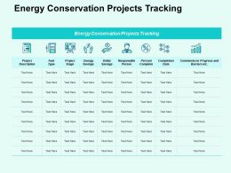 Energy Conservation Projects Tracking Ppt Powerpoint Presentation File Professional