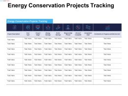Energy Conservation Projects Tracking Responsible Person Ppt Powerpoint Presentation Gallery Design Inspiration