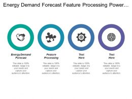 Energy Demand Forecast Feature Processing Power Grid Consumption Client