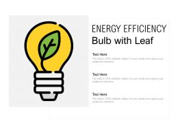 Energy Efficiency Bulb With Leaf