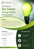 Energy Efficiency Consulting Company Two Page Brochure Template
