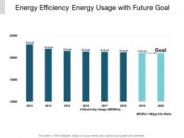 Energy Efficiency Energy Usage With Future Goal