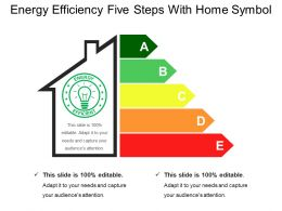 Energy Efficiency Five Steps With Home Symbol