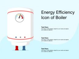 Energy Efficiency Icon Of Boiler