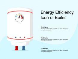 Energy Efficiency Icon Of Boiler