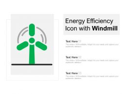 Energy Efficiency Icon With Windmill