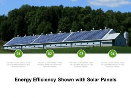 Energy Efficiency Shown With Solar Panels
