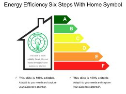 Energy Efficiency Six Steps With Home Symbol