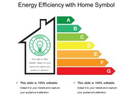 Energy Efficiency With Home Symbol