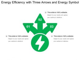Energy Efficiency With Three Arrows And Energy Symbol