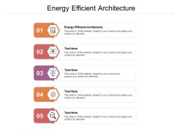 Energy Efficient Architecture Ppt Powerpoint Presentation Outline Guidelines Cpb