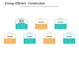 Energy Efficient Construction Ppt Powerpoint Presentation Infographics Graphics Cpb