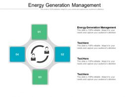 Energy Generation Management Ppt Powerpoint Presentation Icon Brochure Cpb