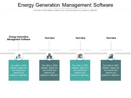 Energy Generation Management Software Ppt Powerpoint Presentation Pictures Inspiration Cpb