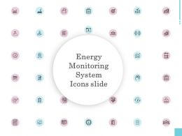 Energy Monitoring System Icons Slide Growth L965 Ppt Powerpoint Slide