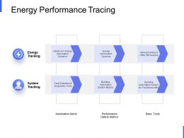 Energy Performance Tracing Performance Data Ppt Powerpoint Presentation Styles