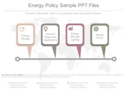 Energy Policy Sample Of Ppt Presentation