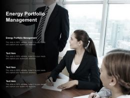Energy Portfolio Management Ppt Powerpoint Presentation Summary Graphics Cpb