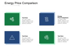 Energy Price Comparison Ppt Powerpoint Presentation Gallery Display Cpb