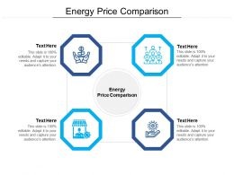 Energy Price Comparison Ppt Powerpoint Presentation Styles Slides Cpb