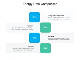 Energy Rate Comparison Ppt Powerpoint Presentation Infographic Template Sample Cpb