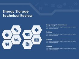 Energy Storage Technical Review Ppt Powerpoint Presentation Slides Format