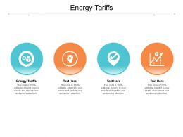 Energy Tariffs Ppt Powerpoint Presentation Gallery Shapes Cpb