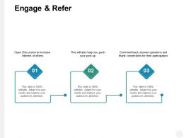 Engage And Refer Connections B194 Ppt Powerpoint Presentation File Deck