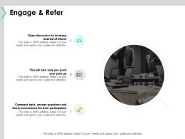 Engage And Refer Participation Ppt Powerpoint Presentation Diagram Lists