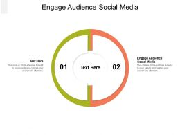 Engage Audience Social Media Ppt Powerpoint Presentation Slides Tips Cpb