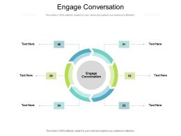 Engage Conversation Ppt Powerpoint Presentation Model Slides Cpb