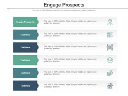 Engage Prospects Ppt Powerpoint Presentation Summary Graphics Tutorials Cpb